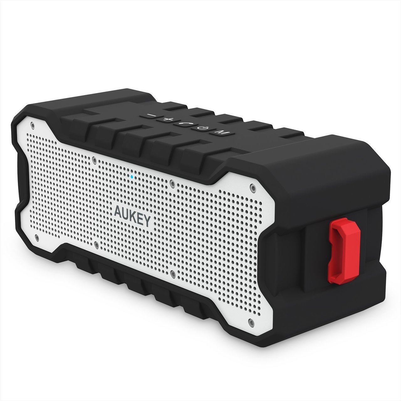 AUKEY Bluetooth Speaker with 30-Hour Playtime, Enhanced Bass, Water Resistant Wireless Speaker for iPhone, iPad, Samsung - SK-M12