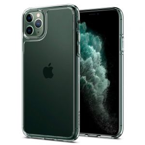 iphone 11 pro max quartz hybrid cover with tempered glass black